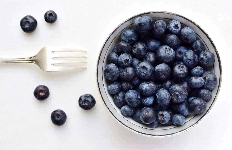 Bowl of blueberries