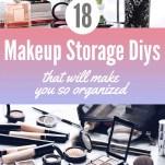 Makeup Storage DIY Pinterest Pin