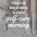 Self-care Morning Pinterest Pin