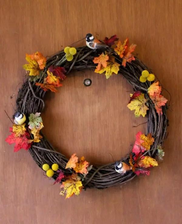 easy fall thanksgiving wreaths