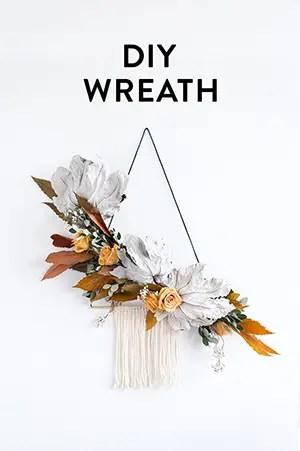 DIY modern wreath