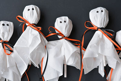 Lolliop ghosts for halloween