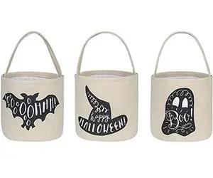Fabric Trick or Treat buckets