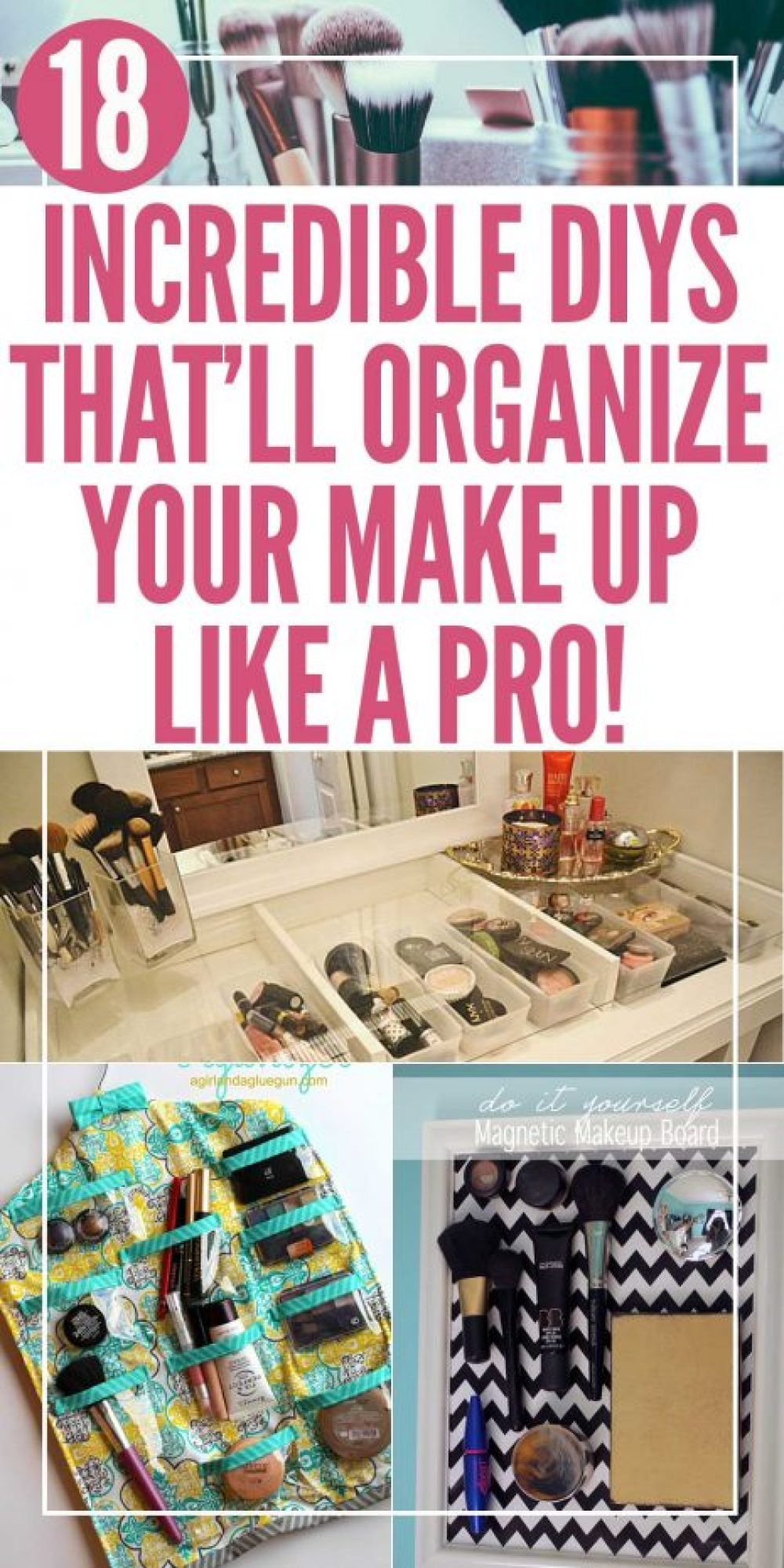 Make up storage ideas and diy projects to organize and reorganize all of your cosmetics and beauty tools so everything's easy to find! Get a vanity area worthy of a Youtuber with these fun and easy tutorials!