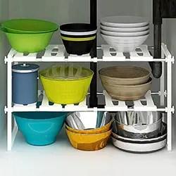 2-Tier Kitchen Shelf Organizers Rack