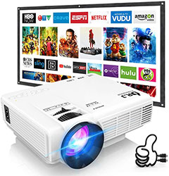 Mini Projector Outdoor Movie Projector with 100Inch Screen