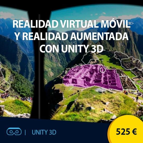 Curso online Realidad Virtual Móvil y Realidad Aumentada con Unity 3D