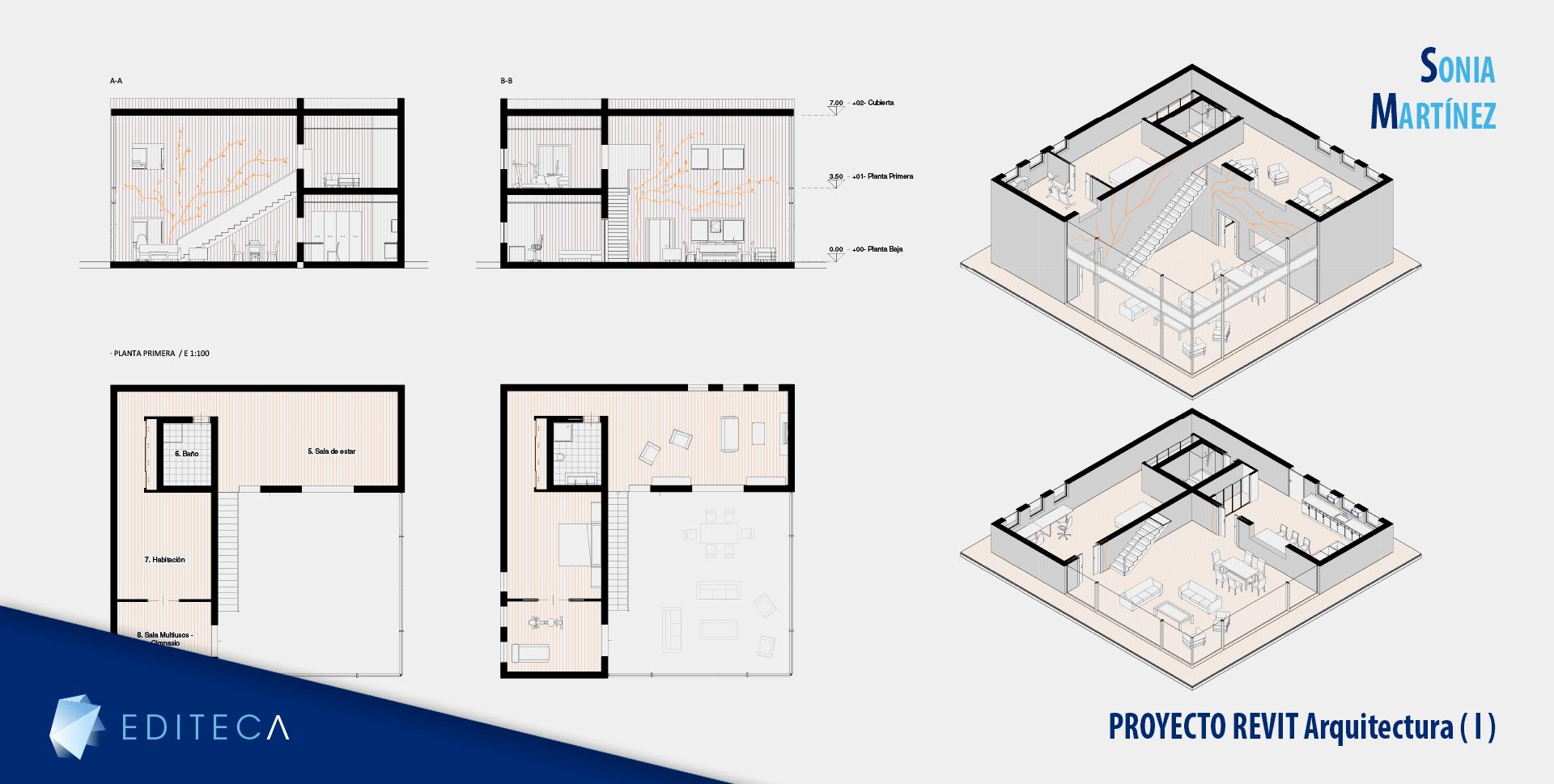 proyecto Curso de revit arquitectura básico - Sonia