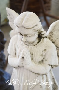 Antique French marble angel statue