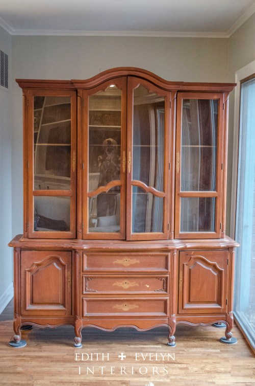 The China Cabinet Transformation | Edith & Evelyn | www.edithandevelynvintage.com