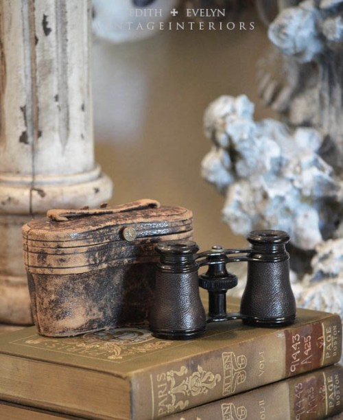 Old Books and Opera Glasses | Edith & Evelyn | www.edithandevelynvintage.com