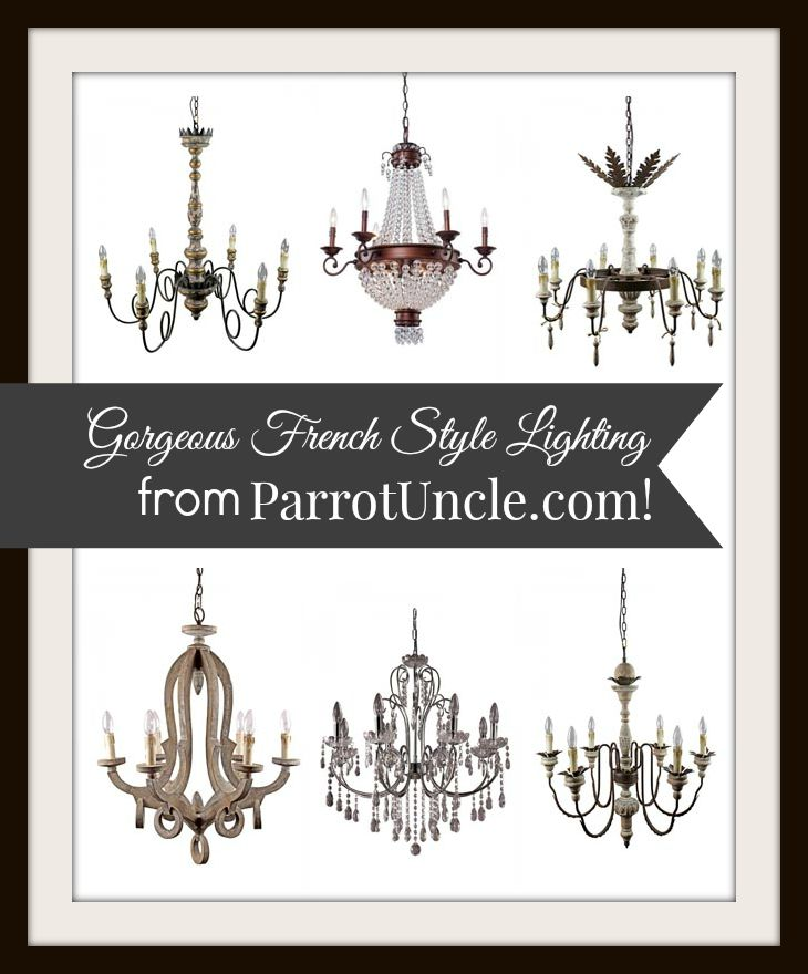Gorgeous French Style Lighting from ParrotUncle.com | Edith & Evelyn Vintage | www.edithandevelynvintage.com