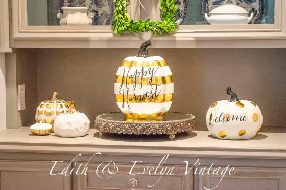 Fall Decor in the Dining Room | Edith & Evelyn Vintage | www.edithandevelynvintage.com