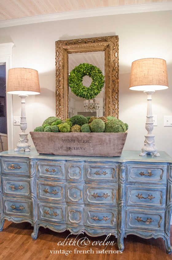 A Blue French Provincial Dresser Edith Amp Evelyn
