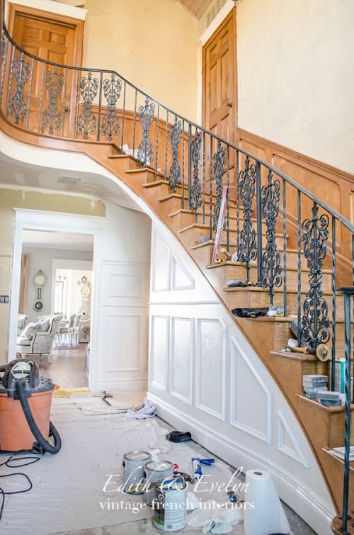Foyer Progress | Edith & Evelyn Vintage | www.edithandevelynvintage.com