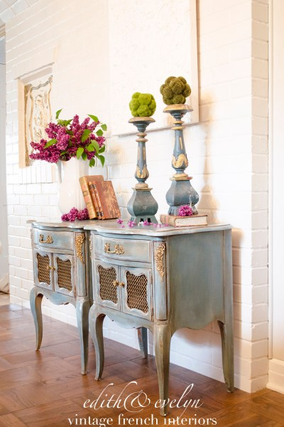 Transforming French Nightstands | Mia Colore Paint