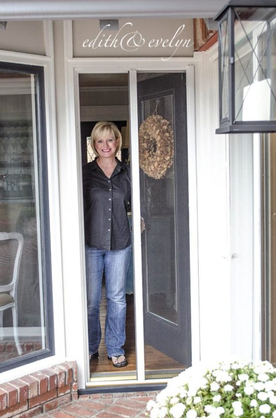 A retractable screen door phantom screens edith evelyn for Phantom sliding screen doors