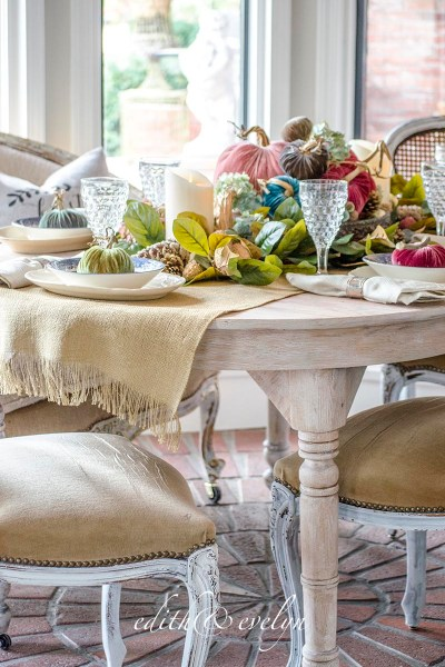 A Storied Farm Table | Plush Pumpkin Giveaway | Edith & Evelyn Vintage | www.edithandevelynvintage.com