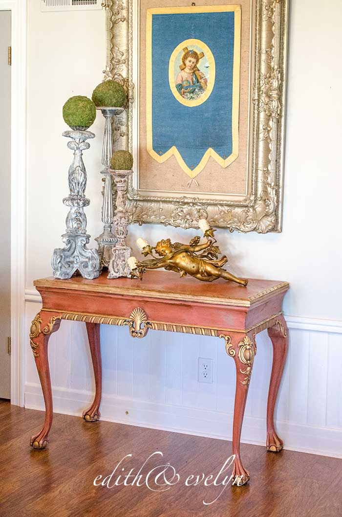 A Pink French Table | Edith & Evelyn | www.edithandevelynvintage.com