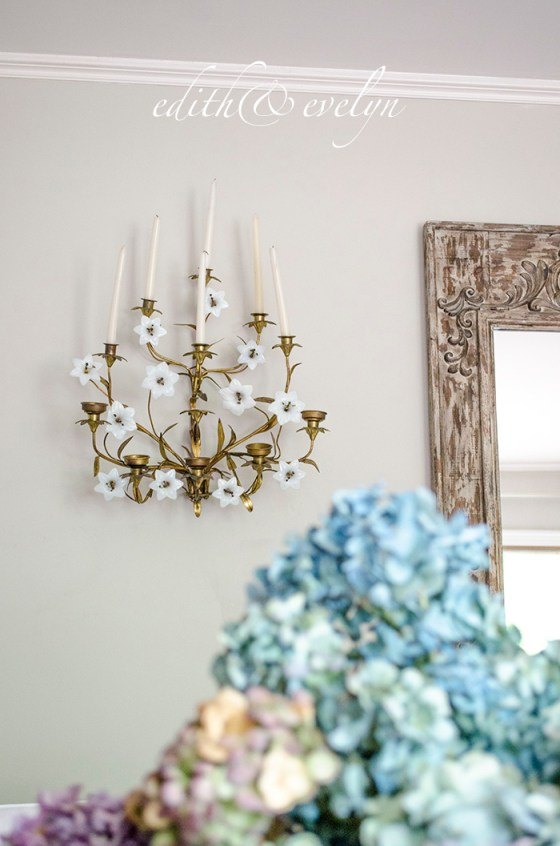 French Sconces and a French Chandelier | Edith & Evelyn | www.edithandevelynvintage.com