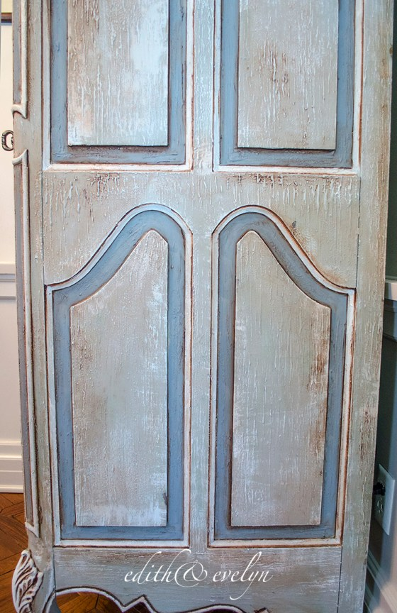 French Armoire in the Study   Edith & Evelyn Vintage   www.edithandevelynvintage.com