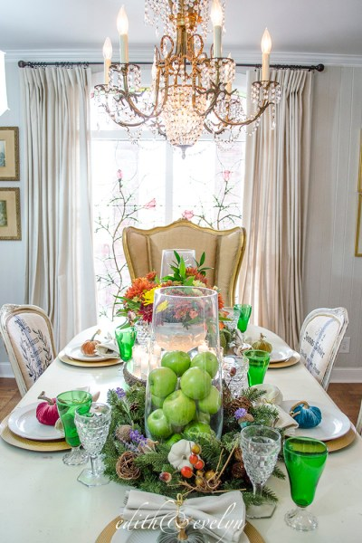 How to Create an Autumn Tablescape with Garland and Wreaths