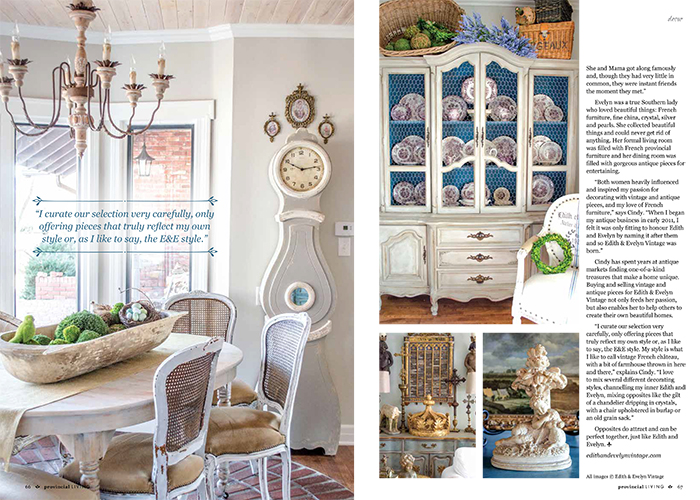 Magazine Features Romantic Homes | Edith & Evelyn | www.edithandevelynvintage.com