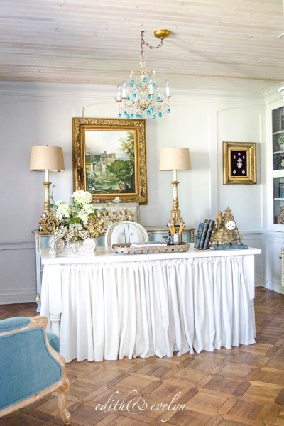 French Country Fridays No. 12 ~ French Study, Chandeliers, Decor and More!