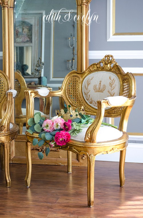 French Chair Makeover | Edith & Evelyn | www.edithandevelynvintage.com