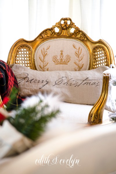 Holiday Details in the Master Bedroom