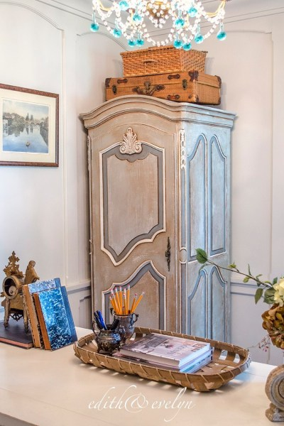 A French Armoire Makeover, A Painting Tutorial, Spring Decorating, and More!