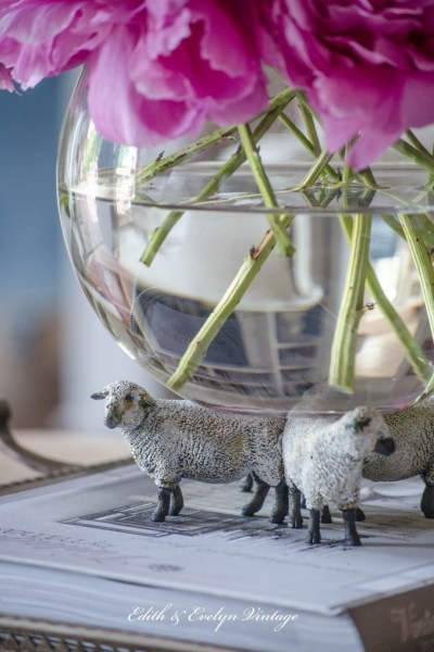 French Country Sheep, Florals, and Spring Tablescapes