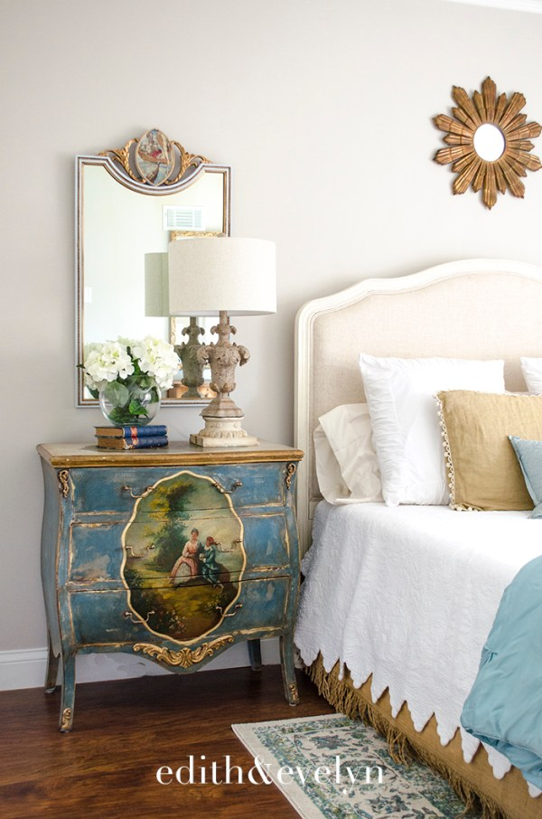 A Pretty French Chest Makeover | Edith & Evelyn | www.edithandevelynvintage.com