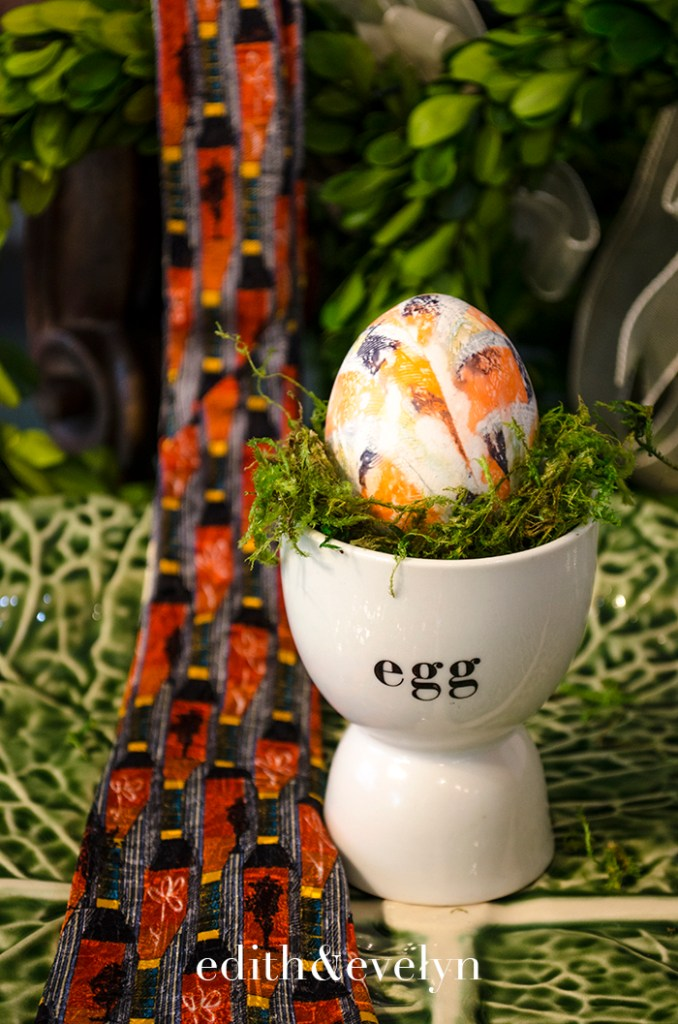 How to Dye Easter Eggs with Neckties | Edith & Evelyn | www.edithandevelynvintage.com