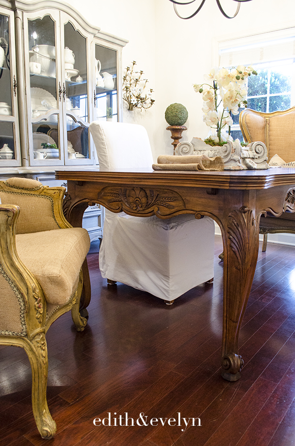 Antique French Country Dining Table | Edith & Evelyn | www.edithandevelynvintage.com