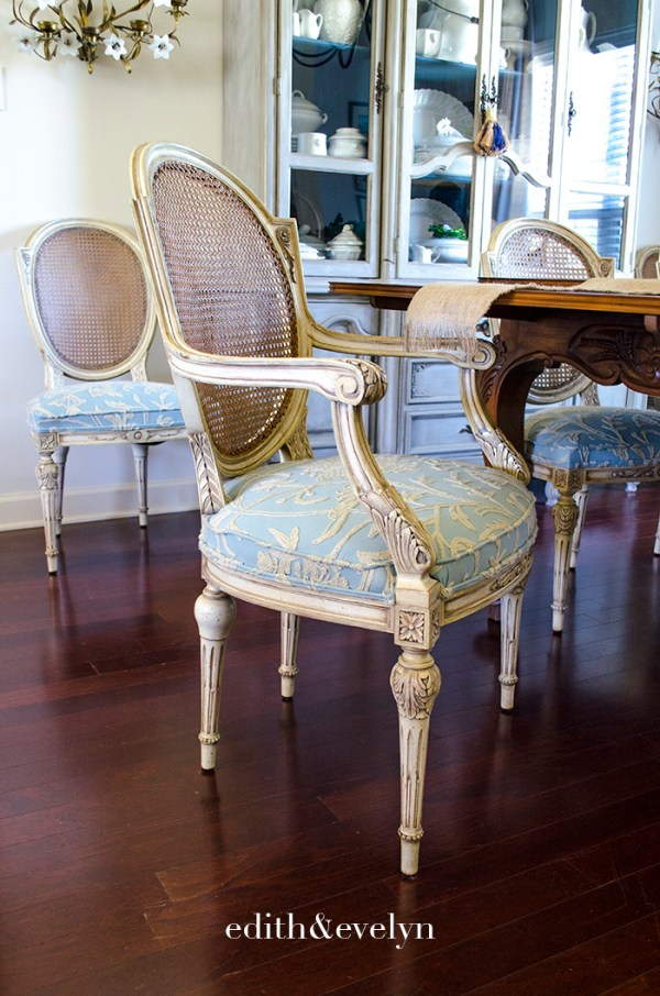 Louis XVI French Chairs | Edith & Evelyn | www.edithandevelynvintage.com