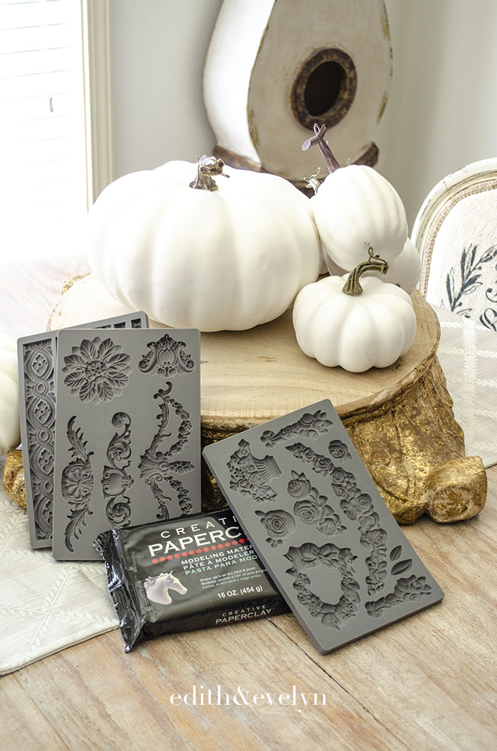 How to Create Fancy Pumpkins with Clay Moulds