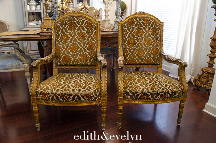 Estate Sale Antique Louis XVI Chairs | Edith and Evelyn | www.edithandevelynvintage.com