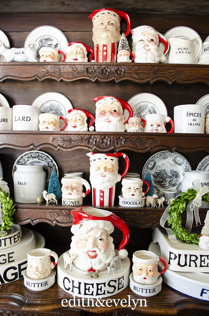 Collecting Vintage Santa Mugs | Edith & Evelyn | www.edithandevelynvintage.com