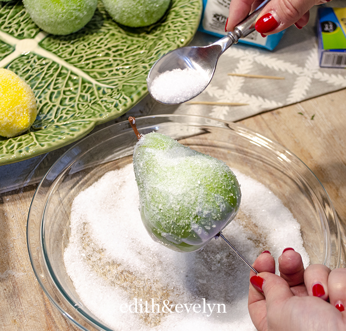 How to Make Faux Sugared Fruit | Edith & Evelyn | www.edithandevelynvintage.com