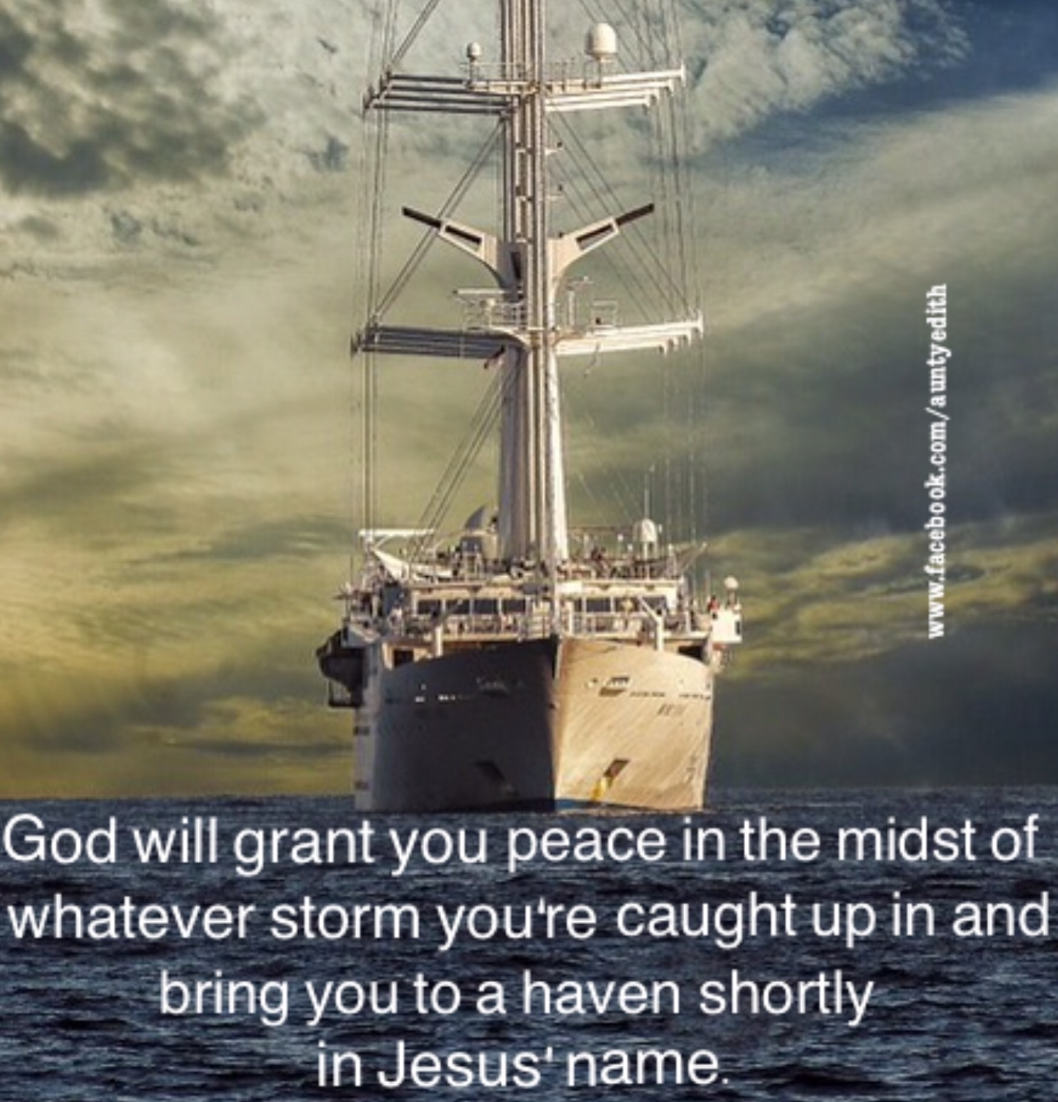 PEACE AND DELIVERANCE FROM THE STORM