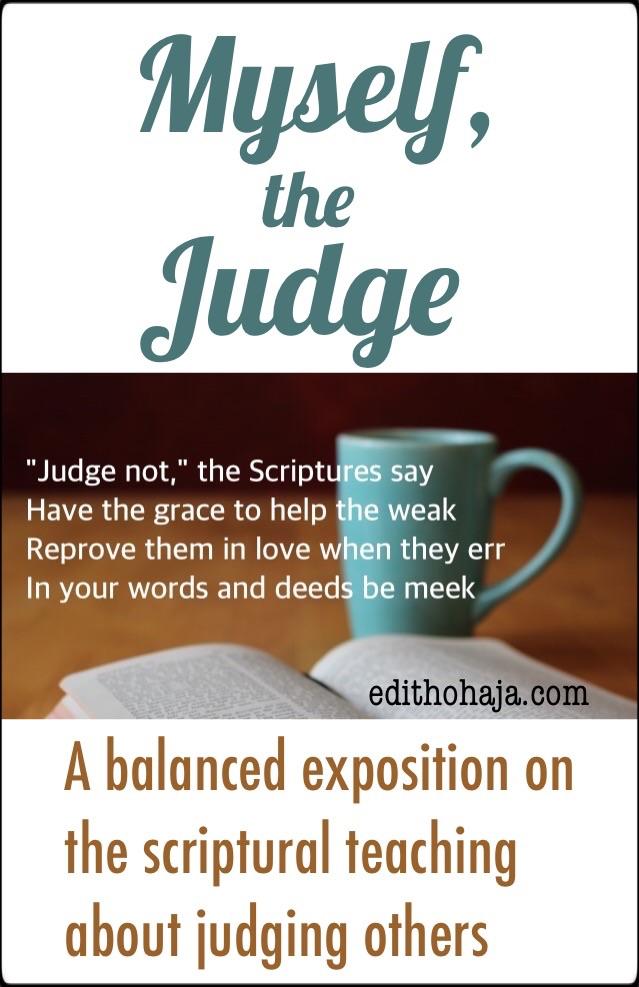 MYSELF THE JUDGE by PAUL UGOAGWU