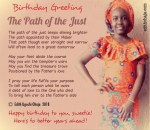 Birthday Poem: The Path of the Just