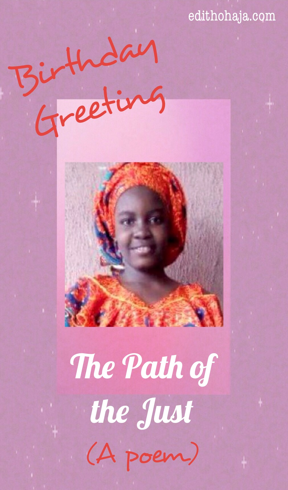 THE PATH OF THE JUST (POEM AND BIBLE VERSES)