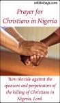 PRAYER FOR CHRISTIANS IN NIGERIA