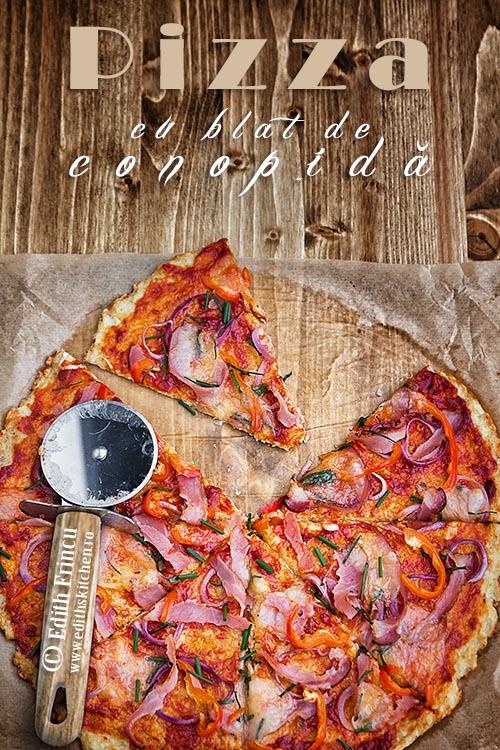 pizza cu blat de conopida 1b