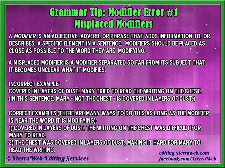 Misplaced Modifiers by XterraWeb