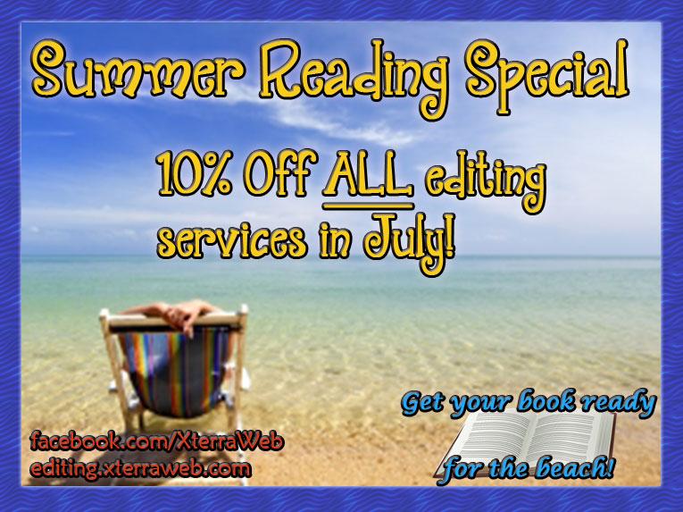XterraWeb Summer Editing Special 10% 0ff.