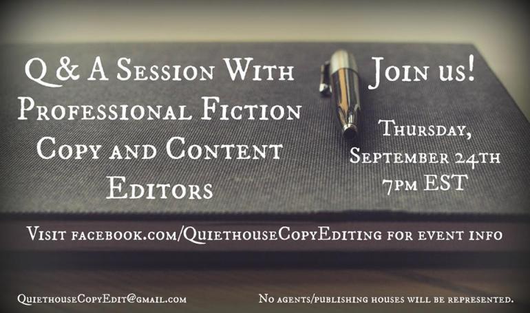 September 24, 2015 Editor Q&A Event on Facebook