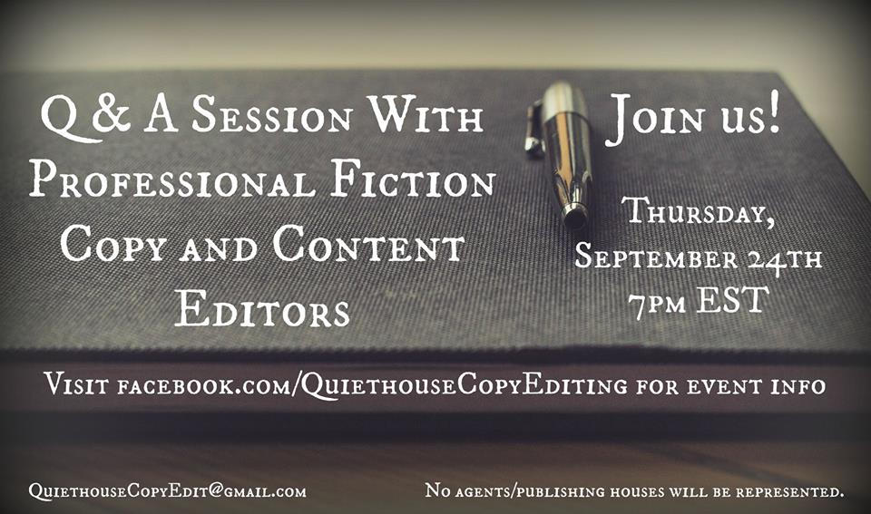 September 24, 2015 Editor Q&A Event on Facebook